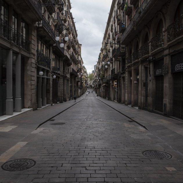 Coronavirus carrer ferran buit barcelona buida - Sergi Alcàzar