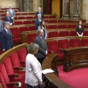 minut silenci coronavirus ple parlament