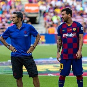 Ernesto Valverde Leo Messi Barca Europa Press