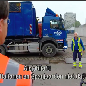 Mark Rutte planta residus NOS tv