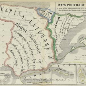 Mapa polític d'Espanya (1850). Font Biblioteca Nacional de España