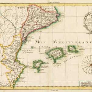 Test 101. L'expansió de la llengua catalana. Corografia dels Països Catalans (1773). Font Bibliothèque Nationale de France