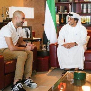 Pep Guardiola Khaldoon Al Mubarak Sheikh Mansour bin Zayed Foto Manchester City