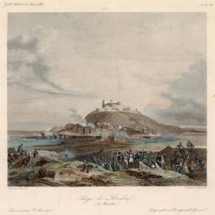 L'exèrcit napoleònic pren Lleida a l'assalt. Gravat que representa el Setge de Lleida (1810). Font Cartoteca de Catalunya