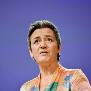 La vicepresidenta de la Comissió Europea i eurcomissaria de la Competència, Margrethe Vestager, durant una roda de premsa el 30 de gener del 2020.