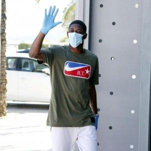 Ousmane Dembele mascareta coronavirus guants Barca @FCBarcelona