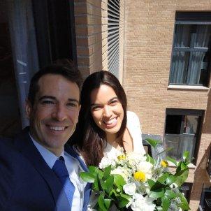 La Marta i l'Omar es van casa online al maig