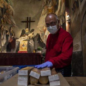 Menjador Social Santa Anna Coronavirus caritas esglesia crisi caritas mascareta- Sergi Alcazar