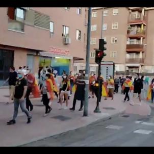 manifestacio espanyolista alcala de henares coronavirus - captura @RafaelSanguin11
