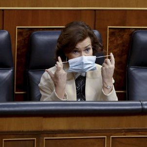Carmen Calvo mascareta Congrés coronavirus EFE Pool