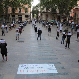 ELNACIONAL manifestacio cdr plaça virreina coronavirus - sergi alcazar