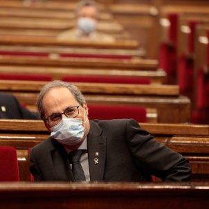 Quim Torra ple Parlament coronavirus temperatura mascareta Job Vermeulen