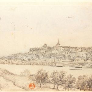 Mor Anna, l'esposa catalana de Nostradamus. 26 05 1538. Vista d'Agen. Font Bibliothèque Nationale de France