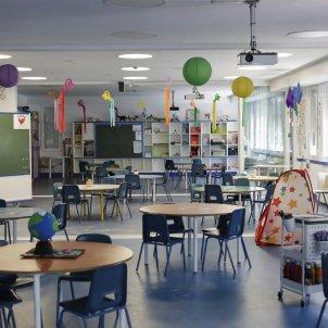 aula buida col·legi escola Jesús Hellín / Europa Press