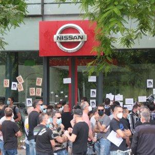 Protesta treballadors Nissan concessionari Barcelona Sergi Alcàzar