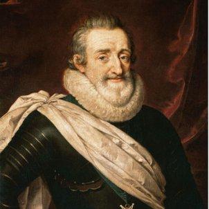 Coronen el primer Borbó francés. Enric IV