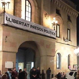 pancarta presos polítics Vilassar de Dalt
