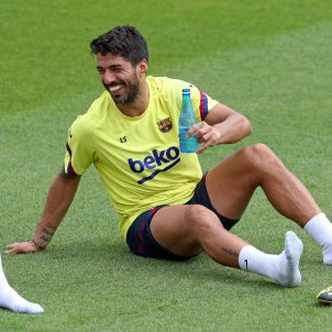 Luis Suarez entrenament Barca @FCB