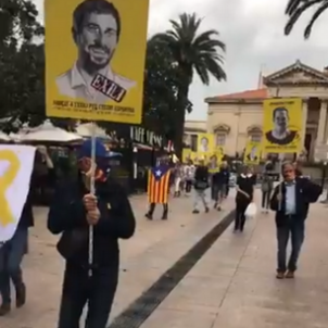Manifestació presos polítics Perpunyà Josep Bonet