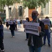 Acció de l'independentisme per exigir a Sánchez la llibertat dels presos