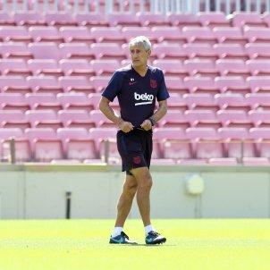 Quique Setien Barca entrenament FC Barcelona
