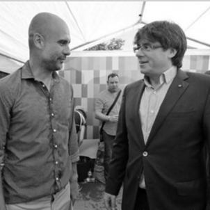Guardiola Puigdemont Facebook