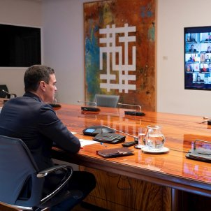 Pedro Sánchez videoconferencia presidents EFE