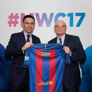 Josep Maria Bartomeu John Hoffman Mobile World Congress FC Barcelona