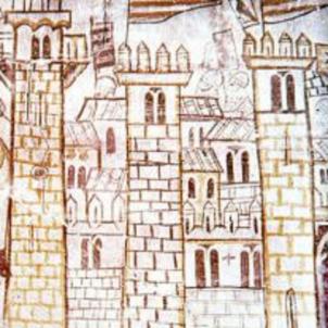 El Cid ocupa València. Muralla de Balansiy. Font Wikimedia Commons