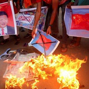 India protesta contra la Xina EFE
