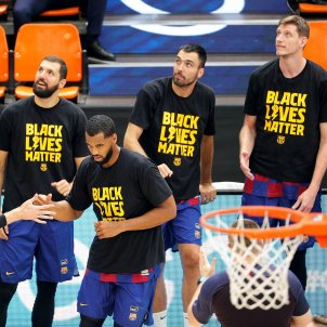 Black Lives Matter Barca basquet Valencia ACB EFE