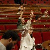 Gemma Geis (JxCat) Anna Caula (ERC) parlament - acn
