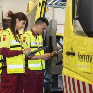 trabajadores servicio ambulancias ferrovial - europa press