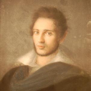 Retrat de Sinibald de Mas (1830, abans de l'inici dels seus viatges) obra de Manuel de Cabanyes. Font Wikimedia Commons