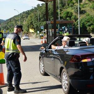 policia vehiculo frontera espanya frança jonquera girona primer dia - Europa Press