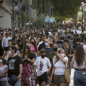 MASCARETA BARCELONA gent turisme passeig centre coronavirus - Europa PresS