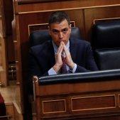 L'FMI enfonsa la previsió per Espanya Pedro Sánchez Congrés EFE