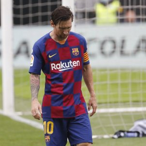 Leo Messi Barca trist EFE