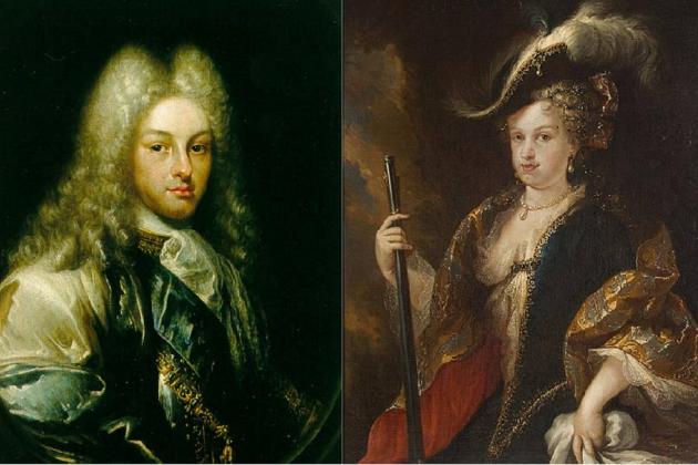 Felipe V y Gabriela de Saboya. Fuente Wikimedia Commons