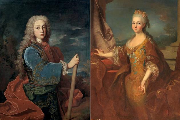 Lluís I y Lluïsa de Orleans. Fuente Wikimedia Commons