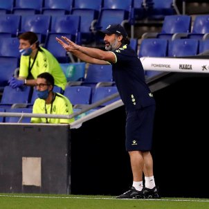 Rufete entrenador RCDE Stadium Espanyol Reial Madrid EFE