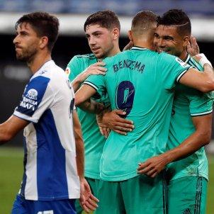 Casemiro Benzema gol Reial Madrid Espanyol EFE