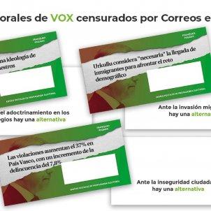 Vox sobres propaganda electoral País Basc