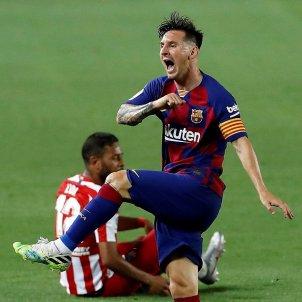 Messi enfadat Barca Atletic Madrid EFE