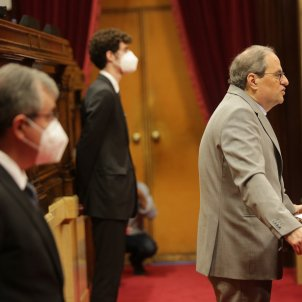 Quim Torra Ple Covid-19 coronavirus parlament mascareta mascaretes - Sergi Alcàzar