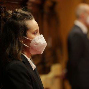 Uxiers Parlament amb mascareta covid-19 coronavirus prevenció - Sergi Alcàzar