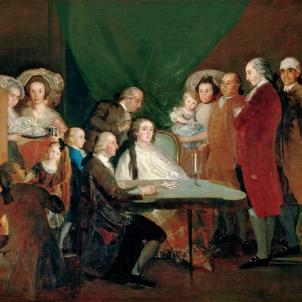 La familia de Lluis Borbó Farnese (1784), obra de Francisco de Goya, Font Wikimedia Commons