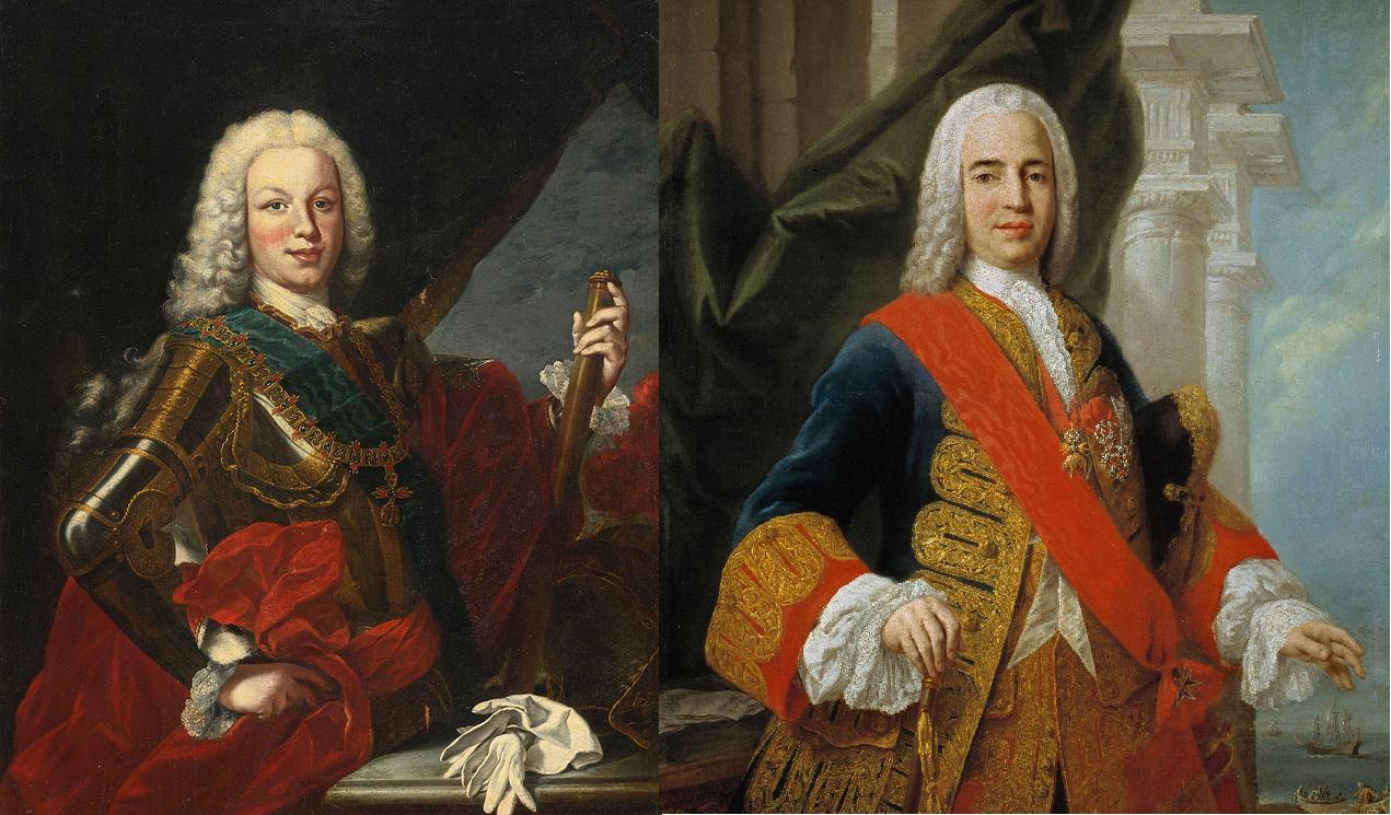 Fernando VI y el marqués de la Ensenada. Font Viquipedia