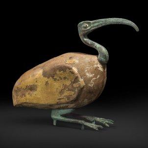 animals antic egipte. Sarcòfag d'ibis. Fusta, pa d'or i bronze. Baixa Època (715 332 aC) o Període Ptolemaic (302 30 aC). Museu Egipci