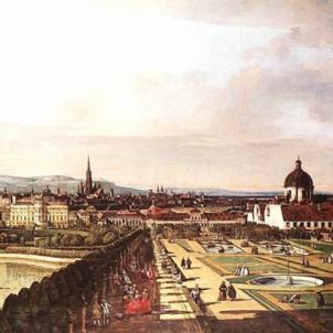 Antoni Desvalls, heroi de 1714, mor a l'exili de Viena. Vista de Viena (segle XVIII). Font Kunshistoriches Museum. Viena